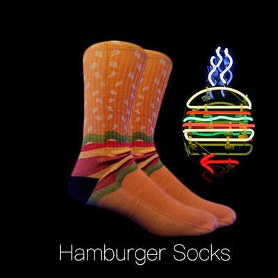 chaussettes de hamburger