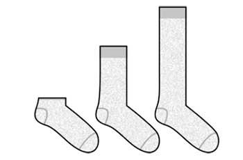chaussettes de longueur